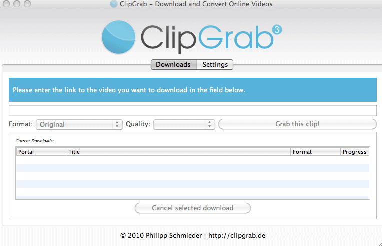 clipgrab video downloader